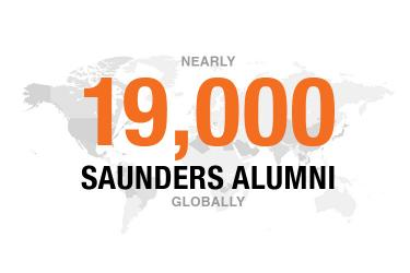 Saunders College has more than 19,000 alumni across the globe