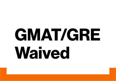 GMAT/GRE Waived.