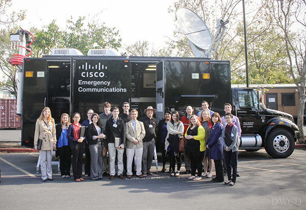 Students met with RIT alumnus David Kaufman of Cisco.