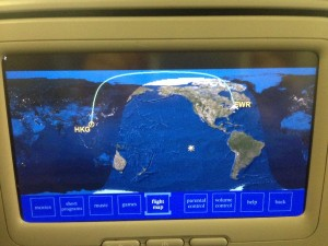 Photo 1: The flight route.