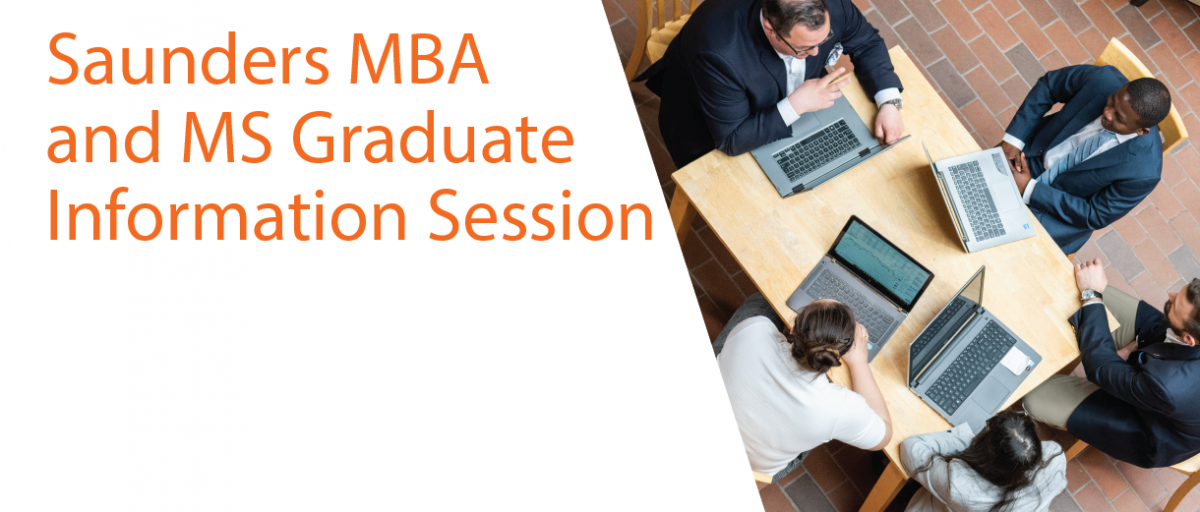 Saunders MBA and MS Graduate Information Session | Online - June 2, 2020
