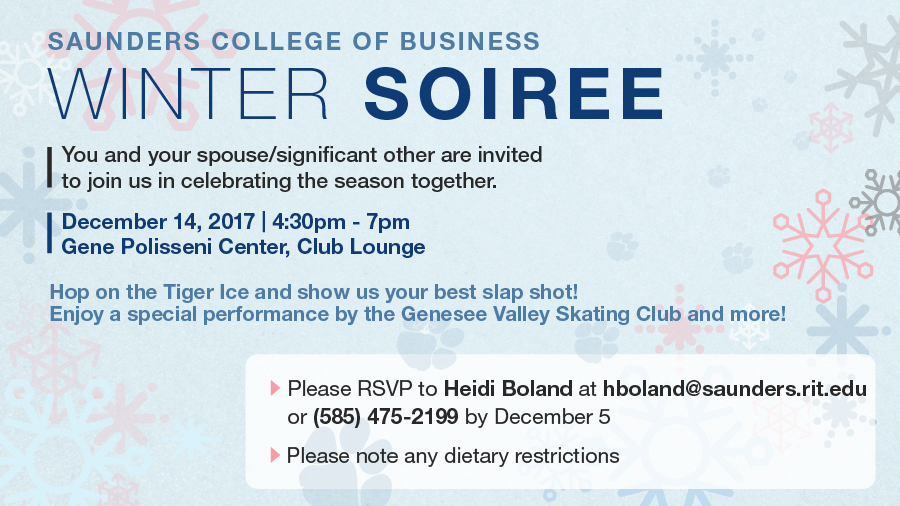 Saunders College Winter Soiree 2017