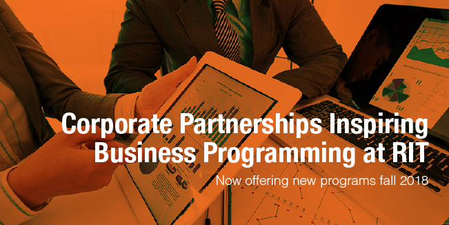Corporate Partnerships Inspiring Business Programming at RIT