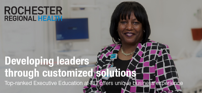VIEW HIGHLIGHT Top-ranked Executive Education at RIT developing leaders through custom programs