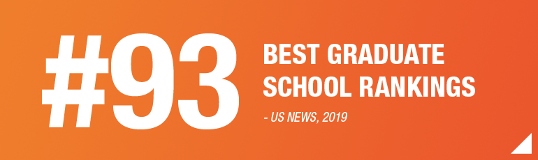 US News, #93 Graduate Programs
