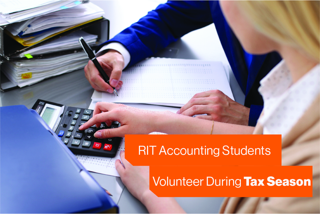RIT Accounting Students Volunteer During Tax Season