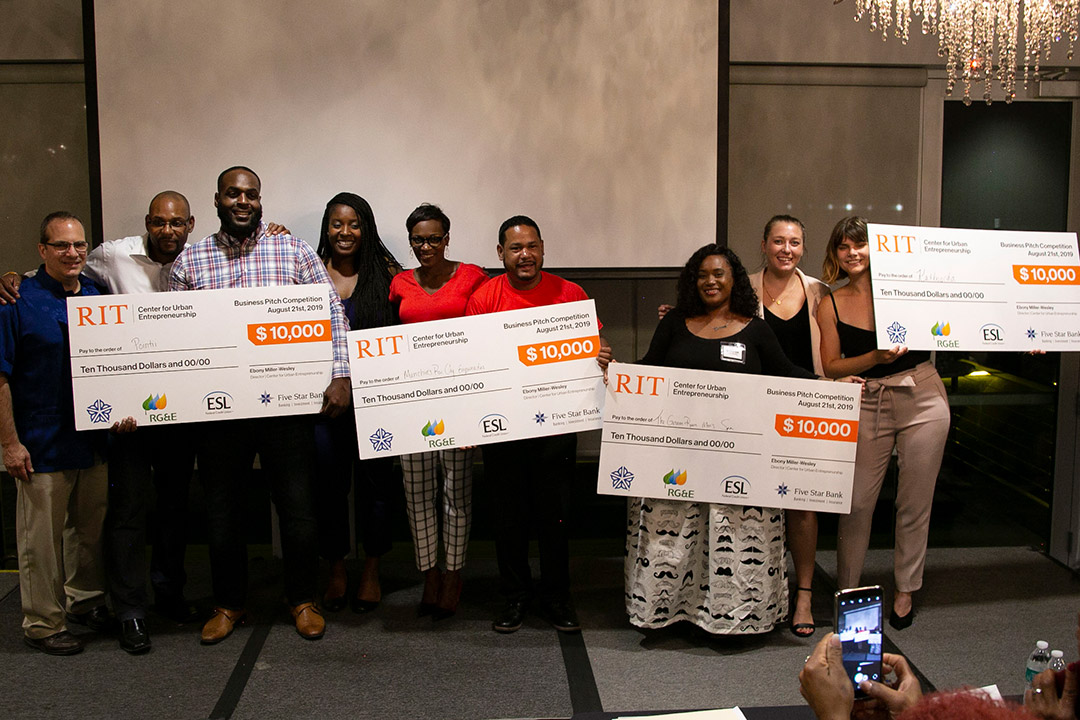 RIT Center for Urban Entrepreneurship business pitch contest results in economic boost for local fledgling businesses