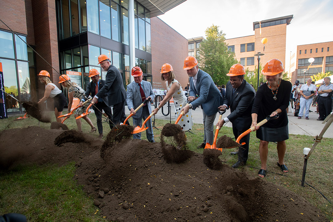 Saunders College of Business celebrates upcoming expansion and renovation with ceremonial groundbreaking