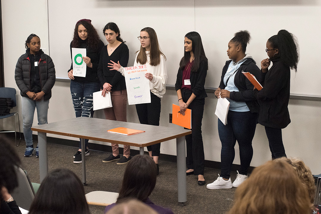Saunders program encourages high school women to explore studies, careers in business