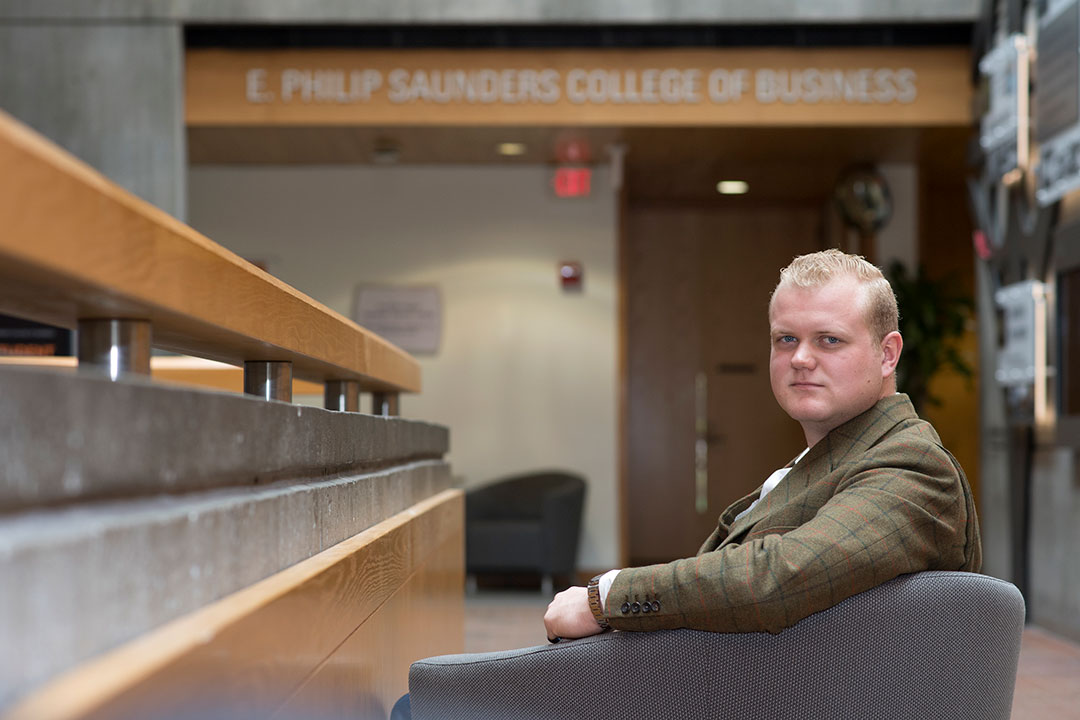 Alumnus Chance Wright '18, '19 makes $1.8 million donation to RIT's Saunders College of Business
