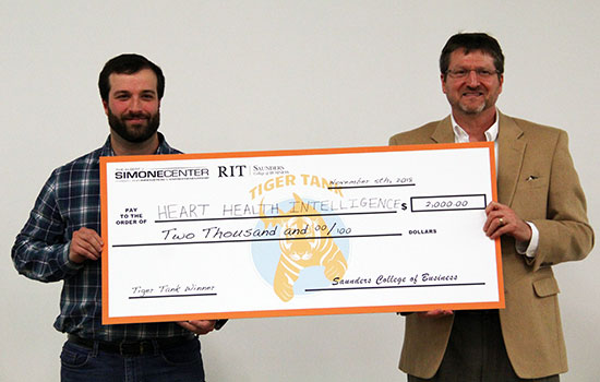 Toilet seat that detects congestive heart failure takes top spot in RIT's Tiger Tank entrepreneurship competition